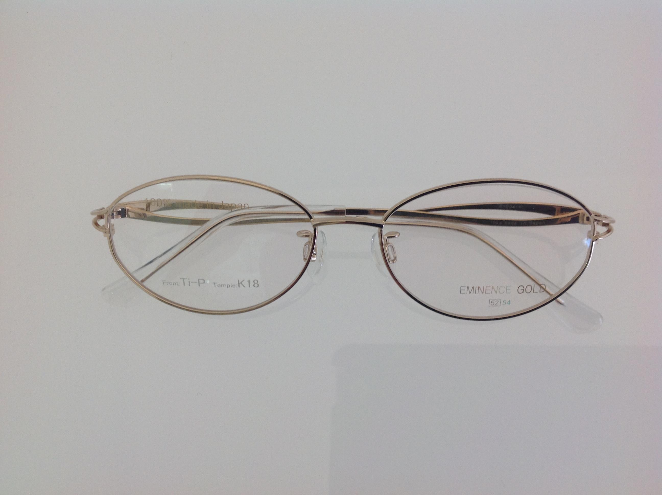 フロントチタンのK18メガネ