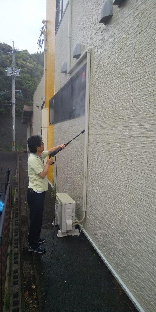 高圧洗浄機を買って外壁掃除